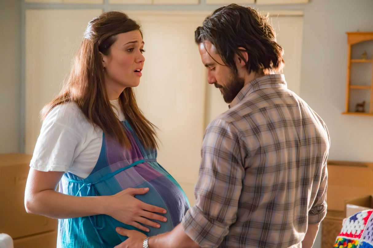 "THIS IS US -- ""The Big Day"" Episode 112 -- Pictured: (l-r) Mandy Moore as Rebecca, Milo Ventimiglia as Jack -- (Photo by: Ron Batzdorff/NBC) Ron Batzdorff/NBC 