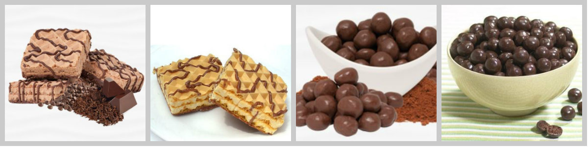 Image of IP protein wafers ($32/box5) vs. ProteinWise protein wafers ($14.95/box5); IP choc. soy puffs ($32/box7) vs. ProteinWise choc. soy puffs ($13.95/box7)